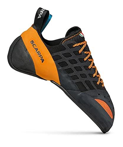 SCARPA Instinct Zapatos de Escalada, Negro/Anaranjado, 1 US