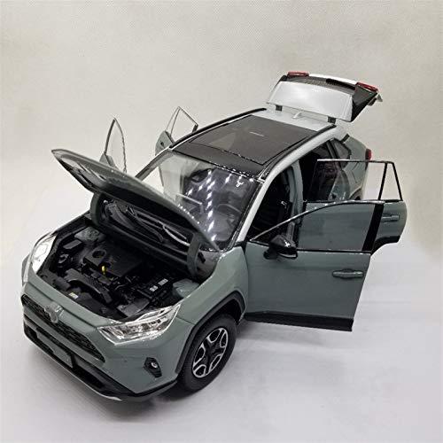 Aleación Niño Coche Deportivo 1:18 Modelo Diecast De Escala para R-AV4 2020 Blanco SUV Alloy Casting Toy Car Diecast Vehicle Vehicle Collection Regalos para niños pequeños niños niñas Regalo