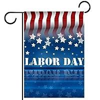 ガーデンフラグウェルカムバナーフラグヤードガーデン屋外装飾オールシーズンの垂直両面アートフラグアメリカの休日の労働日