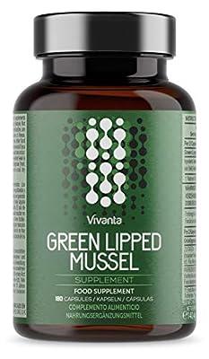 Grünlippenmuschel Kapseln - 180 Kapseln x 500 mg Grünlippmuschel - 500mg Grünlippmuschelpulver pro Portion - 180 Kapseln (3-6 Monatsvorrat) - Premium Qualität Grünlippenmuschelpulver