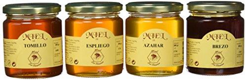 Miel Las Obreras pack 4 variedades 300 g -  Total: 1200 g