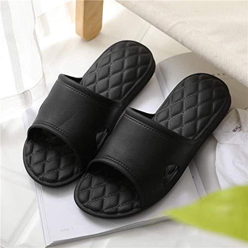 Cxcdxd Zapato de Playa para la Ducha, Zapatillas de baño de Verano para Hombres y Mujeres, Sandalias y Pantuflas insípidas para el hogar con Fondo Suave y silencioso, Black_43-44