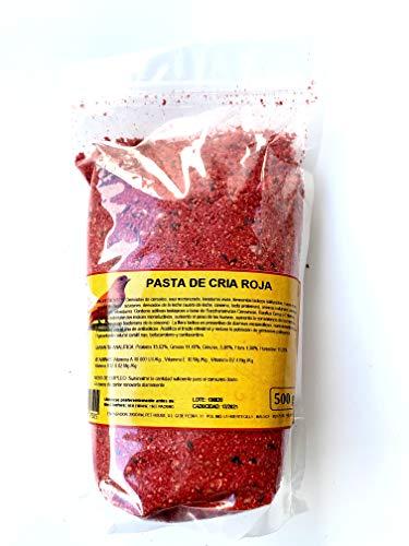 Pasta DE CRIA ROJA para Canarios 500 Gramos. Alto Rendimiento