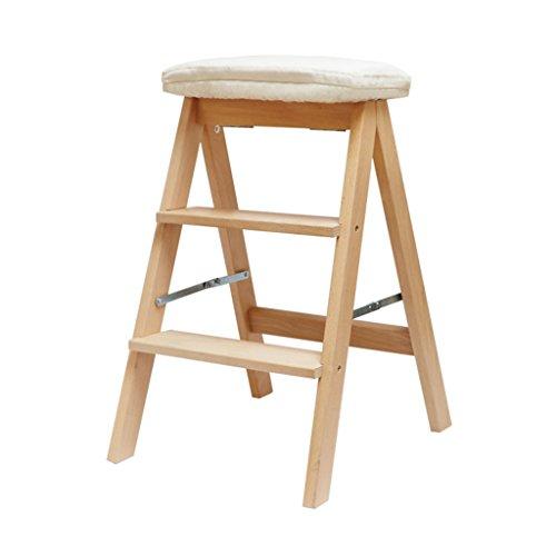 Chen- Maison en bois massif Multi-usages échelle pliante Creative Escalier Chaise Escalier Intérieur Déplacer échelle ascendante Petite échelle (Couleur : F)