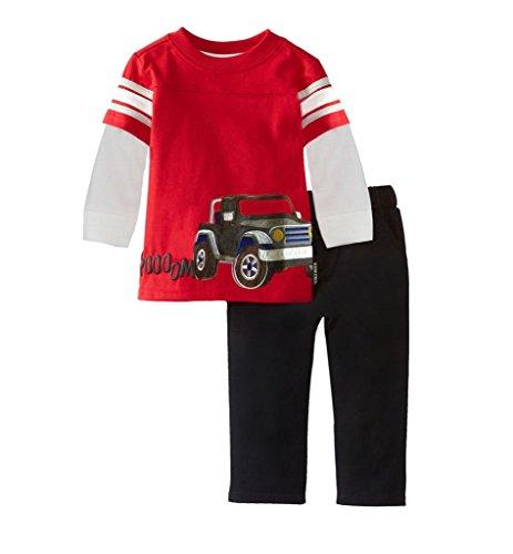 Gotend Kids Toddler Boys Cotton Trouser Top 2PCS Sets...