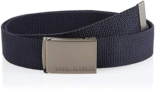 Urban Classics Gürtel Canvas Belt Unisex, Navy, one size