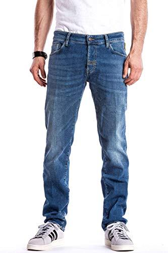 Meltin'Pot Melton Jeans Relaxed, Blu (Denim Blue), 46 (Taglia Produttore:32) Uomo