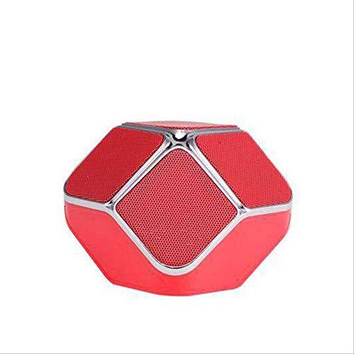 Mirage USB Woofer Subwoofer-TF-Karte Music Center drahtloser beweglicher Heimkino-Bluetooth-Lautsprecher PC-Lautsprecher Schwarz (Color : Red)
