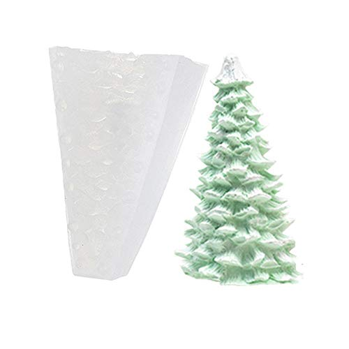 SSEE Baking Tool Epoxy Resin Cedar Aromatherapy Plaster Soap Mold Candle Molds Silicone Mould Christmas Tree Mold(Type 2)