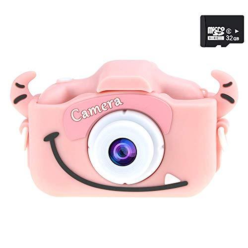 デジタルカメラジタルカメラ トイカメラ 子供用カメラ 1200万画素 2インチ IPS画面 3倍ズーム 子供プレゼント ミニカメラ 32G容量SDカード 操作簡単 日本語説明書付き (ピンク)