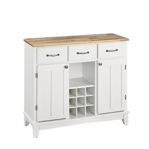 Hutch-Style Buffet- White/ Natural