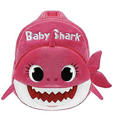 Baby Shark Backpack BLUE or PINK for Toddlers School Travel Cute Plush