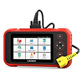 LAUNCH OBD2 Scanner Engine ABS SRS Transmission System Car Diagnostic Tool with Oil EPB SAS TPMS Throttle Body Reset and 10 Optional Reset Services OBDII Auto Scanner Code Diagnostic Tool, Red