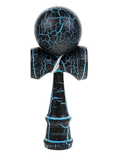 Kendama Kraze Beech Wooden Toy -Extra String (Black & Blue Cracked)
