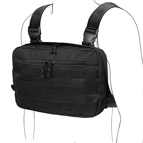 WYNEX Tactical Chest Rig Bag, Recon Kit Bags Combat EDC Front Pouch para Wargame