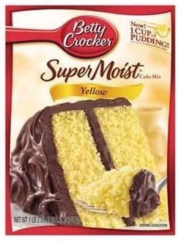 Betty Crocker Super Moist Yellow Mix (Pack of 2)