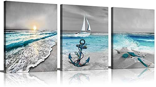 Canvas Wall Art for Home Decoration 3 Piece Modern Painting on Canvas Prints Beach Pictures product image