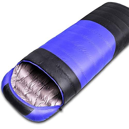 Kyman Saco de Dormir, Ultra-Light Abajo Saco de Dormir de la Primavera, otoño e Invierno al Aire Libre for Adultos Tienda de campaña de la Almuerzo Saco de Dormir, Azul