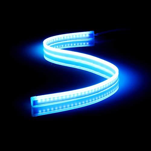 45 cm / 60 cm sequentielle LED-Streifen, Blinker, Umschaltanzeige, Tagfahrlicht, Ice Blue 60cm, 1