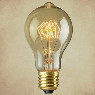 FDGBCF Tapa de lámpara Pure Cupper Retrointage E27 Bombilla de filamento artístico Bombilla incandescente Industrial 40W