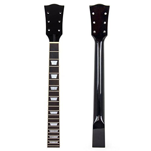 Kmise Electric Guitar Neck for Gibson Les Paul Replacement Mahogany Rosewood 22 Fret Black