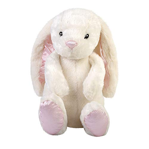 WEUPE Bunny Stuffed Animal: Cute and Soft Bunny Plush Toy, Floppy Long Eared White Brynn Rabbit for Girls, Boys and Kids, 17 inches