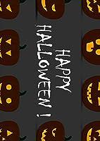 igsticker ポスター ウォールステッカー シール式ステッカー 飾り 1030×1456㎜ B0 写真 フォト 壁 インテリア おしゃれ 剥がせる wall sticker poster 013394 かぼちゃ ハロウィン 黒