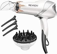 REVLON 1875 Watts Infrared Heat Hair Dryer for Max Drying Power, White