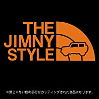 ジムニー 4代目JB64/JB74系ステッカー THE JIMNY STYLE【カッティングシート】パロディ(12色から選べます) (オレンジ)