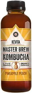 KEVITA Master Brew Kombucha Pineapple Peach, 15.2 Ounce (Pack of 6)