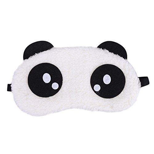 ITODA Schlafmaske Baumwolle Schlafbrille Damen Augenmaske Hautfreundlich Nachtmaske Mädchen Augenabdeckung Plüsch Augenbinde Augen Schlaf Brille Lichtschutz Tieraugenmaske für Flugzeug Reise