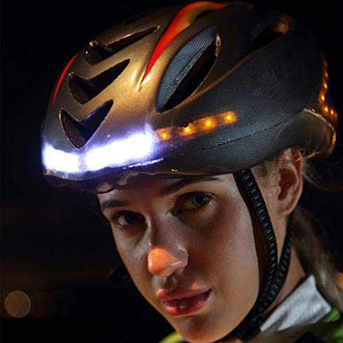 vmree ✮Women Man USB Rechargeable Smart Bike Helmet with Wireless Turn Signal Handlebar Remote for...