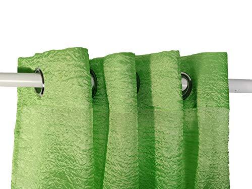 NOBRAND Cortina poliéster con Textura 150 * 260, Ventanas de casa, Decoracion de casa. Color: Verde
