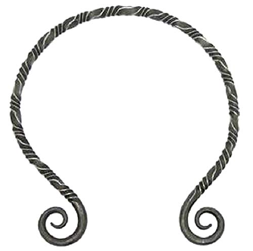 Viking Celtic Torc with Curled Terminals Handforged