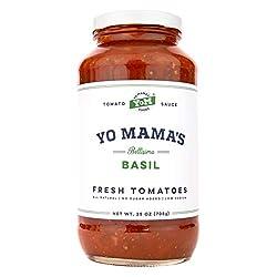 Gourmet, Keto & Paleo Certified Tomato Basil Pasta Sauce   (1) 25 ounce Jar - No Sugar Added, No Glu