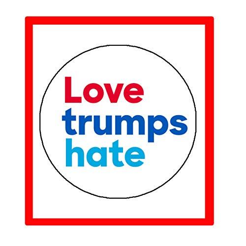 Love Trumps Hate - 10 bottoni a pressione per giacche, cappelli, zaini, 5,7 cm