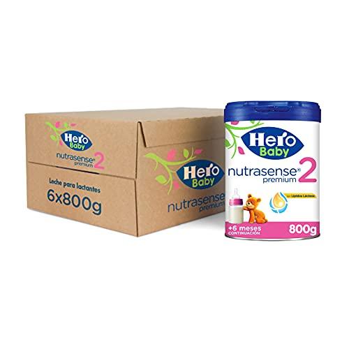 Hero Baby Leche Premium 2 -Para niños de hasta 12 meses - Pack de 6 x 800 gr