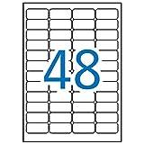 APLI 11272 - Etiquetas blancas de seguridad 45,7 x 21,2 mm 10 hojas