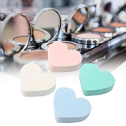Esponja de maquillaje, Esponja de maquillaje cosmética Conveniente 4 piezas en forma de corazón para crear un efecto de maquillaje perfecto para los coloretes de base, BB Cream