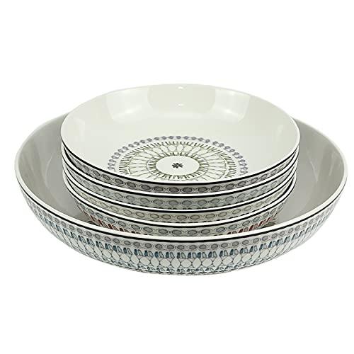Signature Housewares 5-piece Serving Set Stoneware Bowls