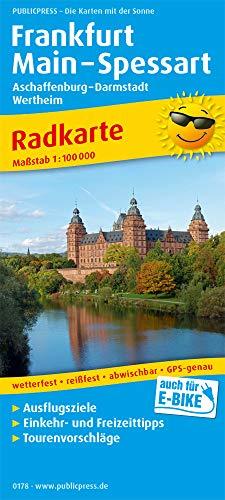 Frankfurt - Main - Spessart, Aschaffenburg - Darmstadt, Wertheim: Radkarte mit Ausflugszielen, Einkehr- & Freizeittipps, wetterfest, reissfest, abwischbar, GPS-genau. 1:100000 (Radkarte: RK)
