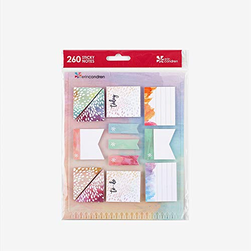 Erin Condren Painted Petals Stylized Sticky Notepads - Measures 1.6' x 7' and Includes 30 Pages. Great for Adding Color to Your Planners and Organizers