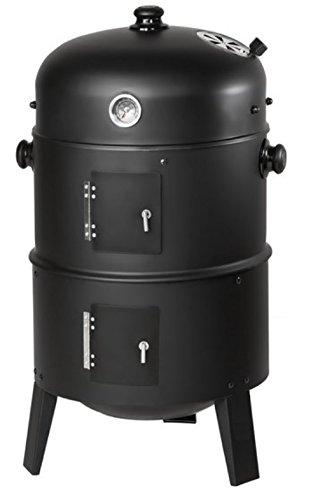 Barbacoa 3 en 1 de carbón vegetal, ahumador, barril para ahumar, parrilla con termostato