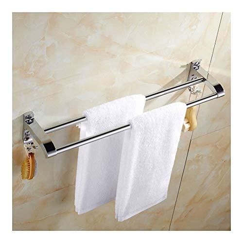 Douchecaddies Shelf Badkamer plank partitie geheugenopslag kaptafel met Handdoek Bar 2 lagen muur gemonteerd Punch Installatie 15,7~31DE YB D-22 (Size : 80cm)