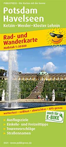 Potsdam - Havelseen, Ketzin - Warder - Kloster Lehnin: Rad- und Wanderkarte mit Ausflugszielen, Einkehr- & Freizeittipps, wetterfest, reissfest, ... 1:50000 (Rad- und Wanderkarte: RuWK)