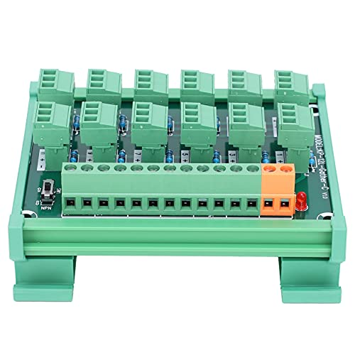 Bloque de terminales Tarjeta de captura de 3 cables y 12 canales Montaje en riel DIN Bloque de terminales NPN PNP Regleta de terminales KP ‑ 12L ‑ Gther ‑ C, especificación de cableado