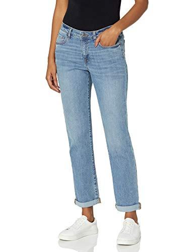 Amazon Essentials Women's Mid-Rise Girlfriend Cropped Jean, Light Blue, 16 Regular