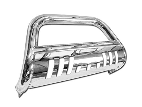 S&T Racing Chrome HD Stainless Steel Bull Bar Compatible with 2005-2010 Grand Cherokee/Commander Brush Push Front Bumper Grill Grille Guard