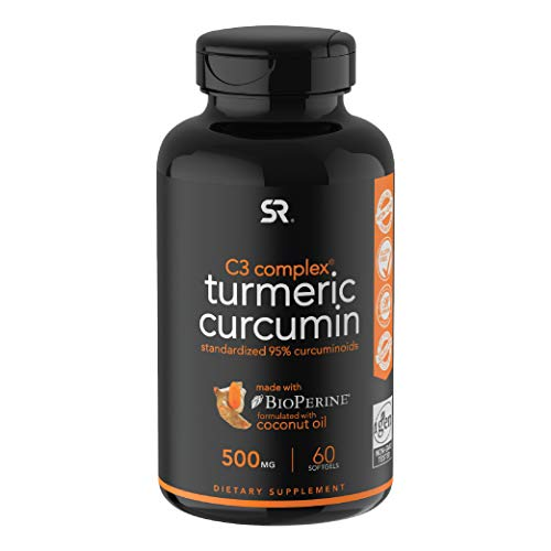 Turmeric Curcumin C3 Complex; Turmeric Supports Healthy Aging, Vision, Joint & Liver; Enhanced with Black Pepper for Better Absorption; Made in USA; 100% Money Back Guarantee. (60 Liquid softgels)