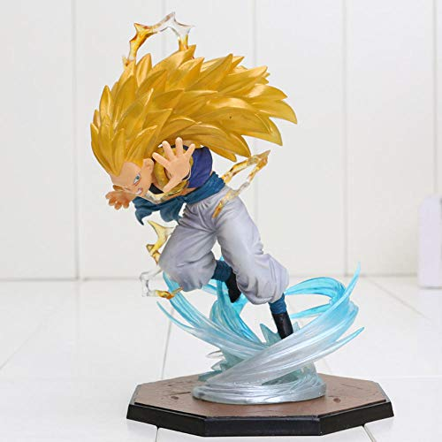 CXNY 16 cm Anime Dragon Ball Z Super Saiyan Gotenks PVC Figura de accion coleccion Modelo de Juguete Dragon Ball Z Figura